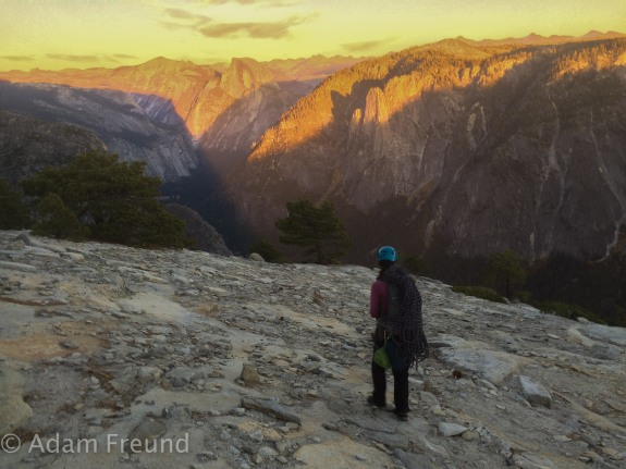 sunset on El Cap